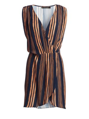 VIX BY PAULA HERMANNY Isabela Gisele Short Striped Caftan