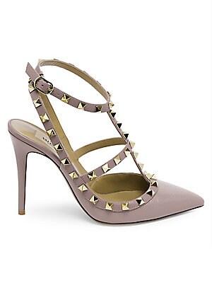 2041ae58e3a Valentino Garavani - Rockstud Patent Leather Ankle-Strap Pumps ...