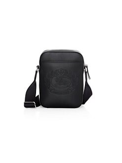 4c5e6969d9 Thornton Embossed Logo Leather Crossbody Bag BLACK. QUICK VIEW. Product  image