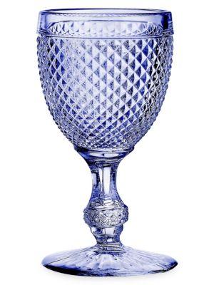Vista Alegre Bicos 4 Piece Glass Water Goblet Set