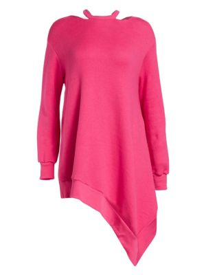 Ben Taverniti Unravel Project Asymmetric Sweatshirt Dress