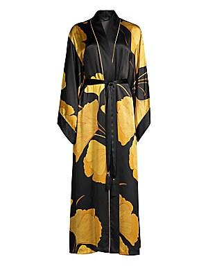 83c265d66a Natori - Josie Natori Gingko Floral Silk Robe