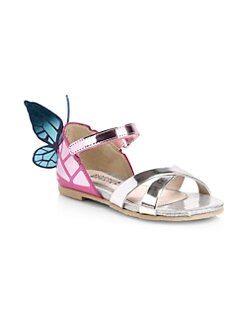 12b84cb8fb240 Baby s   Girl s Chiara Metallic Leather Sandals SILVER. QUICK VIEW. Product  image