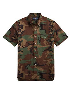 8c3a80dae Product image. QUICK VIEW. Polo Ralph Lauren. Seersucker Print Shirt.  98.50
