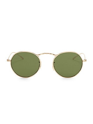 8b37a5d1dfa3 Oliver Peoples - Brownstone 2 49MM Mirrored Round Sunglasses - saks.com