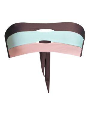 Pilyq Riviera Colorblock Bandeau Bikini Top