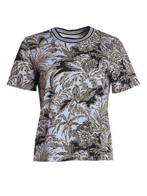 3 1 Phillip Lim Floral Print Cotton T Shirt