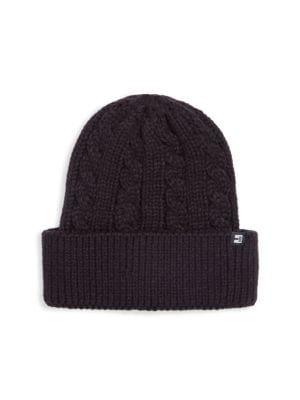 BLOCK HEADWEAR Cable Knit Cuff Beanie in Black