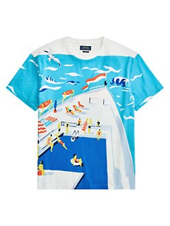 308fe9a07 Polo Ralph Lauren. Classic-Fit Cotton Graphic Tee