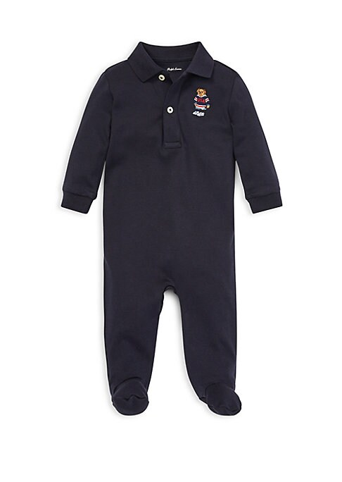 Baby Boys Polo Bear Footed Coverall