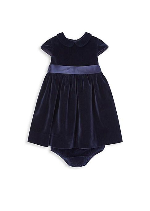 Baby Girls Velvet Bow Occasion Dress