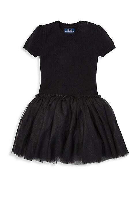 Little Girls Tulle Sweater Dress
