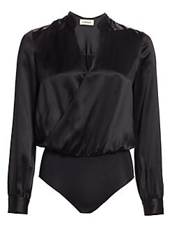 33d975665e85d7 QUICK VIEW. L Agence. Marcella Silk Bodysuit