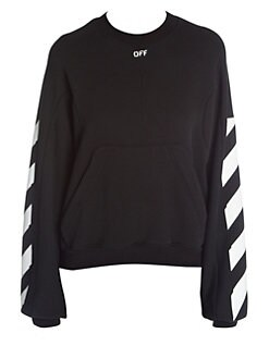 4e51cbbe2877 Off-White. Diagonal Stripes Sweatshirt