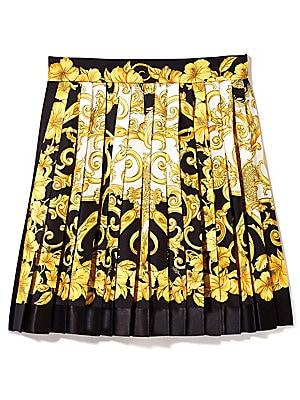 fbf4a5a705 Versace - Silk Pleated Hibiscus Skirt - saks.com