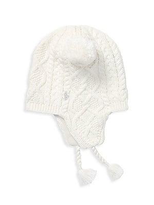 bc3f80c9047 Ralph Lauren - Little Girl s Aran-Knit Earflap Hat - saks.com