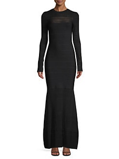71d92b3f8add Herve Leger. Knit Bandage Mermaid Gown