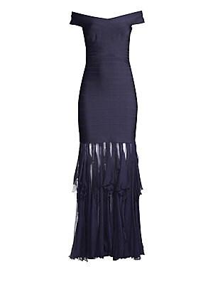 4428fe9a72f3 Rachel Zoe - Jaz Sequin One-Shoulder Ruffle Gown - saks.com