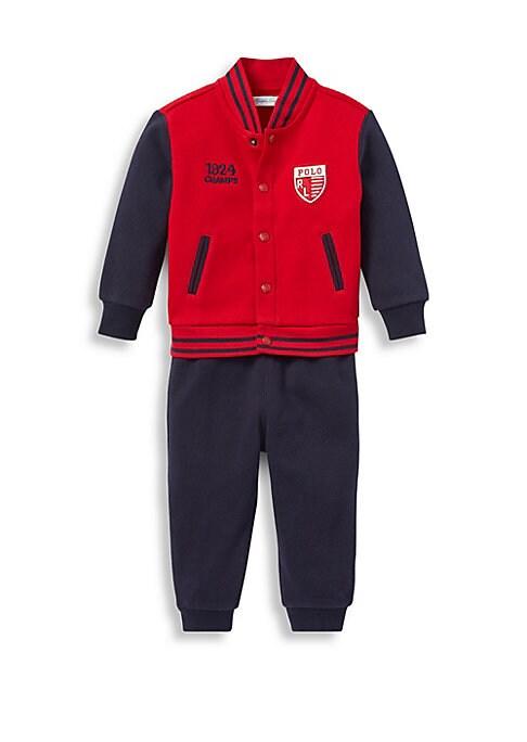 Baby Boys TwoPiece Baseball Jacket  Joggers Set