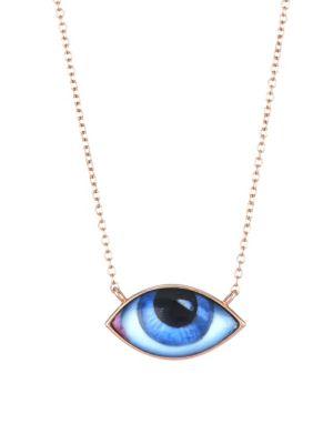 LITO 14K Rose Gold Eye Necklace