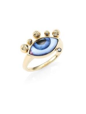 LITO 14K Gold & Black Diamond Chevalier Ring