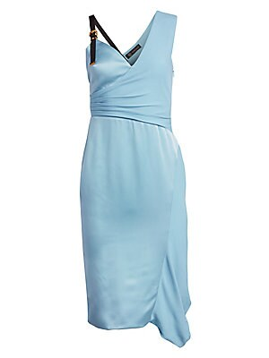 Buckle Shoulder Sheath Dress by Versace