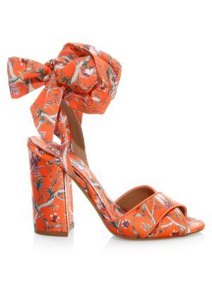 Tabitha Simmons Tabitha Simmons x Johanna Ortiz Connie Floral Wrap Slingback Platform Sandals