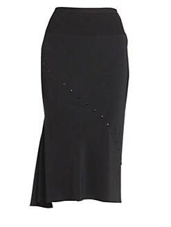 c2024001aa Rick Owens. Perforated Asymmetric Skirt