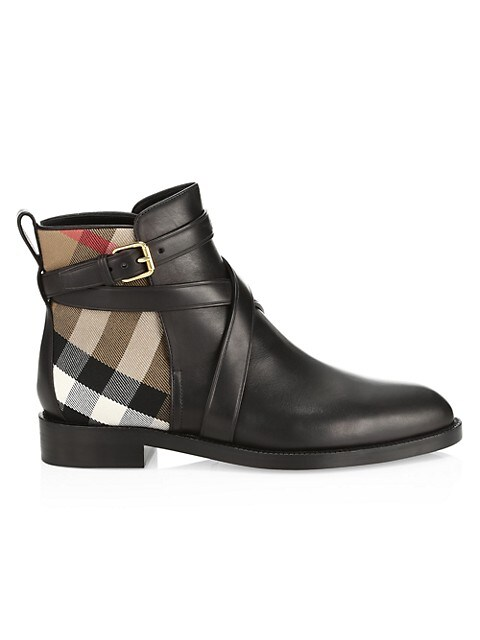 Burberry Pryle Vintage Check Leather Ankle Boots
