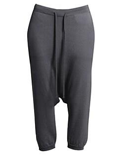 fe230233aa998 QUICK VIEW. Rick Owens. Merino Wool Drawstring Cropped Pants