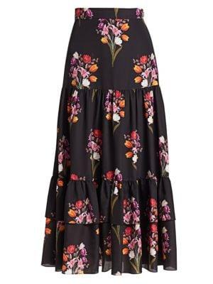 Borgo De Nor Emme Crepe Floral Maxi Skirt