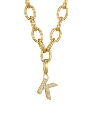 Roberto Coin Princess Charms 18K Yellow Gold & Diamond Initial Charm