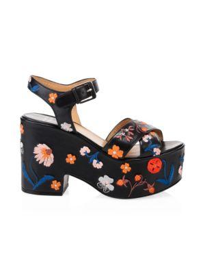 dd640785832f Laurence Dacade Helissa Herbarium Floral Leather Platform Sandals