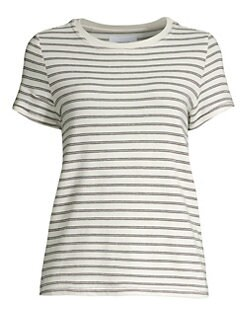 07f9f5e82a6 Current/Elliott - Retro Lurex Striped Tee