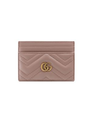 932b6e333 Gucci Marmont Leather Card Case In Pink | ModeSens