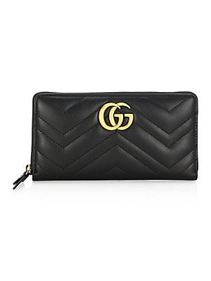8ba408ca57dd Gucci - Quilted Chevron Long Zip-Around Wallet - saks.com