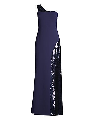 a0e68935f2 Aidan Mattox - Pleated Tiered Gown - saks.com