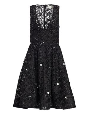 Jayda Sequin & Lace Cocktail Dress by Ahluwalia