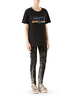29f66f7f8 Short-Sleeve Sequin Logo Tee BLACK · Product image