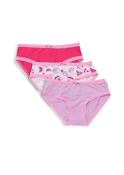 Girls Cupcake ThreePack Underwear Set