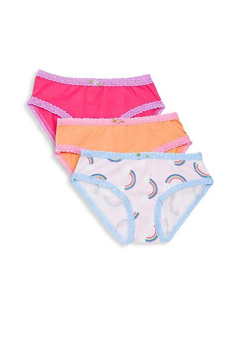 Girls Rainbow ThreePack Underwear Set