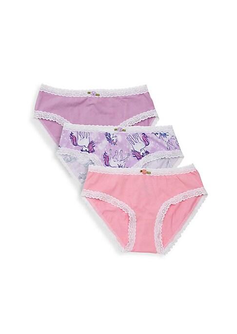 Girls Unicorn ThreePack Underwear Set