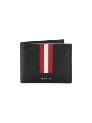 Teyve Stripe Leather Billfold Wallet by Bally