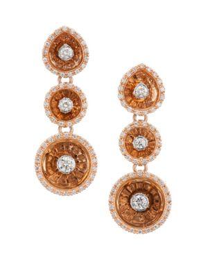 PLEVÉ Aura 18K Rose Gold & Diamond Drop Earrings