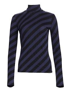 22fcc515657062 Proenza Schouler PSWL. Striped Stretch Turtleneck Top