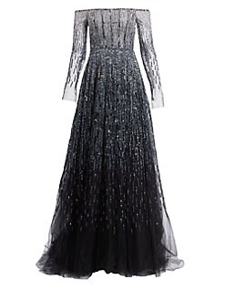QUICK VIEW. Pamella Roland. Off-The-Shoulder Crystal Ball Gown 1556b7bf5