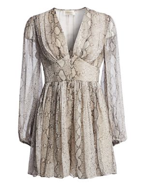 Corsage Python Playsuit by Zimmermann