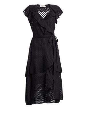 Plisse Dot Wrap Dress by Zimmermann