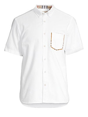 New Core Cotton Oxford Shirt by Burberry