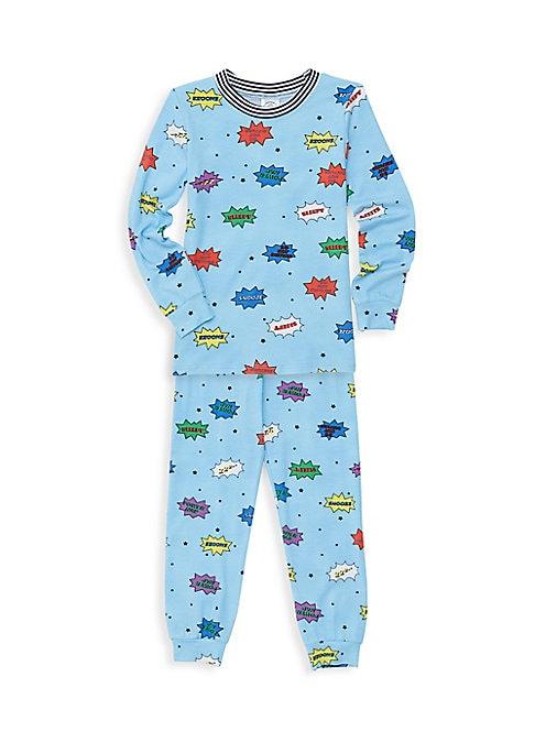 Little Boys  Boys Comic TwoPiece Top  Pants Pajama Set